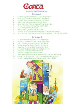 Ramazan Günlüğü Yarışması [1. Kategori] 1. Aybike