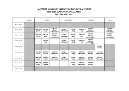 2014-2015 Akademik Yılı Güz Dönemi Ders Programı