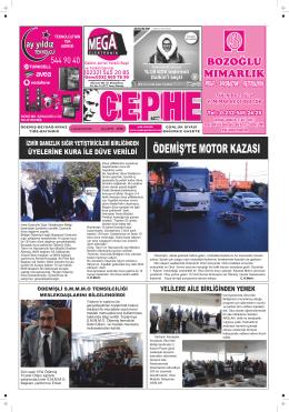 4.11.2014 Tarihli Cephe Gazetesi