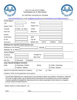 posta ile kayıt formu