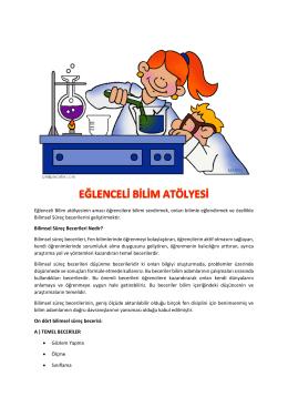 Eğlenceli Bilim Atölyesi