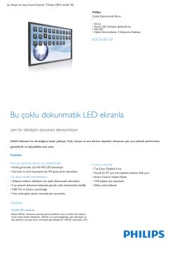 """55"""" Kenar LED Arkadan Işıklı Full HD Çoklu Dokunmatik"""