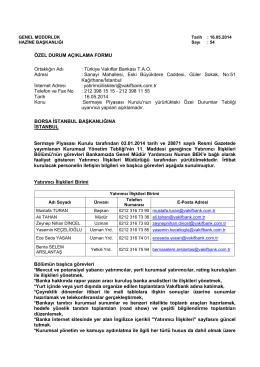 Özel Durum Açıklaması 16.05.2014-3