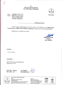 EKLER : - mut ilçe millî eğitim müdürlüğü