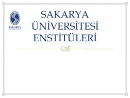 Sağlık Bilimleri Enstitüsü - Sakarya Üniversitesi Uzaktan Eğitim
