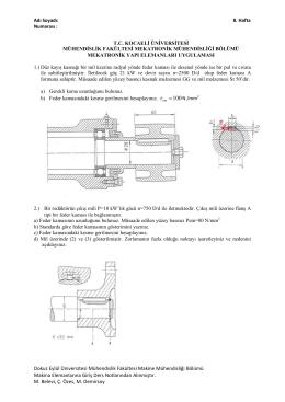 Dokuz Eylül Üniversitesi Mühendislik Fakültesi Makine Mühendisliği