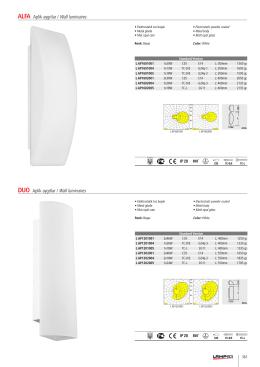 ALFA Aplik aygıtlar / Wall luminaires DUO Aplik aygıtlar