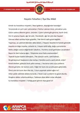 Hayatın Felsefesi / İlya Ebu Mâdi