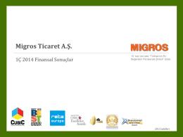 IR Koç Day - Migros Presentation