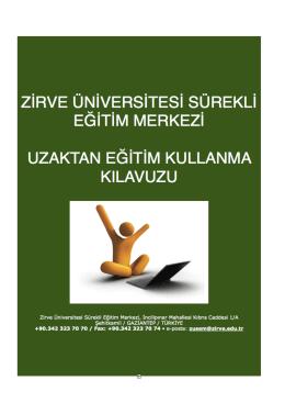 Kullanım Kılavuzu - Zirve Üniversitesi