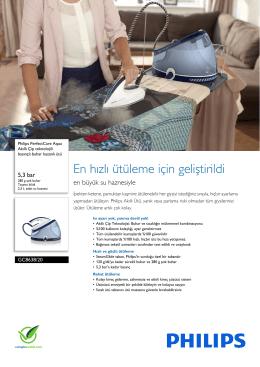 GC8638/20 Philips Akıllı Çip teknolojili basınçlı buhar kazanlı ütü
