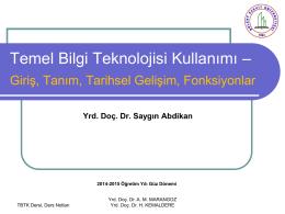 tbt_1.hafta_SA - Geomatik Mühendisliği Bölümü