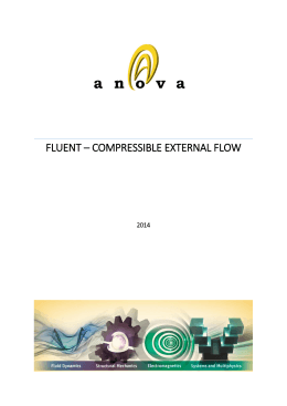 fluent – compressıble external flow