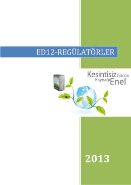 ED12-REGÜLATÖRLER - Enel Enerji Elektronik