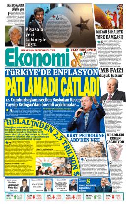 28 AĞUSTOS 2014 - Ekonomi Gazetesi