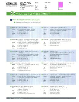 eko yapı yeşil katalog