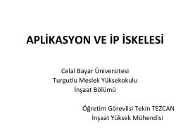 aplikasyon - ip iskelesi - Celal Bayar Üniversitesi