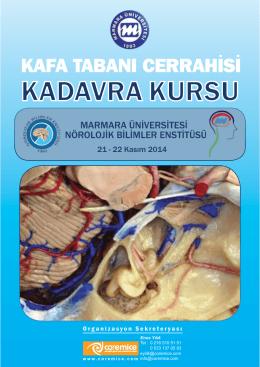 KADAVRA FLYER - Türk Nöroşirürji Derneği