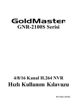 GNR-2104S Türkçe Hızlı Kullanım Kılavuzu