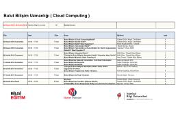 Bulut Bilişim Uzmanlığı ( Cloud Computing )
