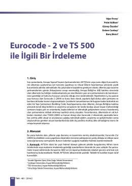 Eurocode - 2 ve TS 500 ile İlgili Bir İrdeleme