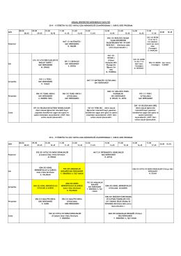2014-2015 Güz yarıyılı ders programını