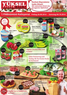 Angebot - Yüksel Frischmarkt