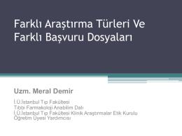 4.meral demir - İstanbul Üniversitesi Klinik Araştırmalar