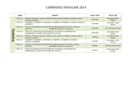 cambrıdge sınavları 2014 ilkokul