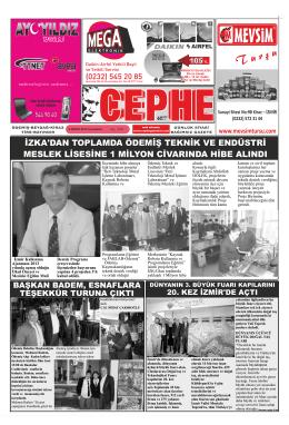 2.04.2014 Tarihli Cephe Gazetesi