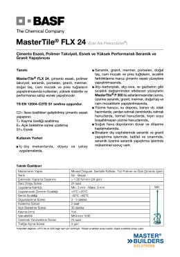 MasterTile® FLX 24 (Eski Adı Fleksmörtel®) Çimento