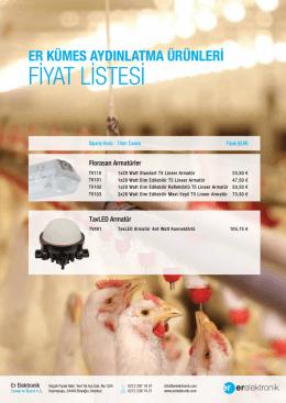 FİYAT LİSTESİ - Er Elektronik