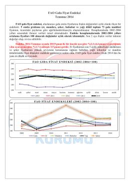 FAO Gıda Fiyat Endeksi Temmuz 2014