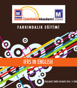 IFRS IN ENGLISH - İSMMMO Akademi