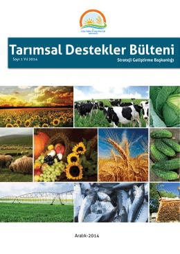 Tarımsal Destekler Bülteni - TC Gıda Tarım ve Hayvancılık Bakanlığı