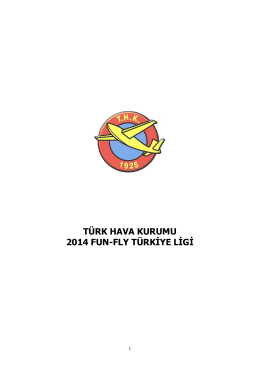 TÜRK HAVA KURUMU 2014 FUN