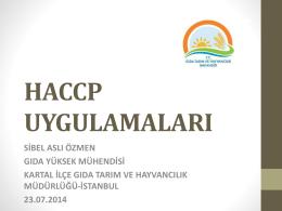 HACCP Uygulamaları
