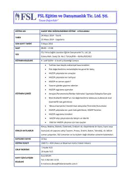 FSL Eğitim ve Danışmanlık Tic. Ltd. Şti.