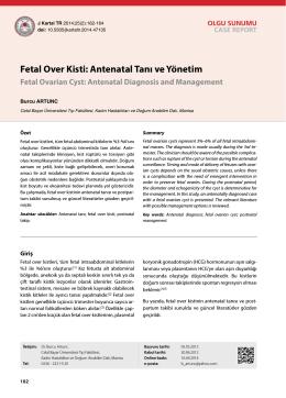 Fetal Over Kisti: Antenatal Tanı ve Yönetim