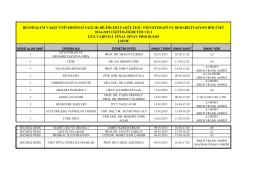 2014-2015 1.Sınıf Güz-Bahar Final Sınav Programı
