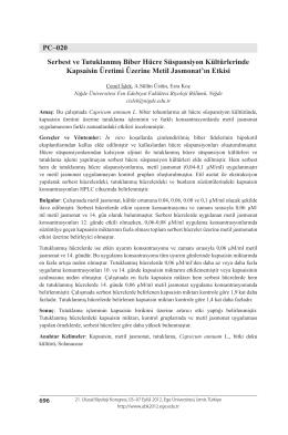 PC–020 Serbest ve Tutuklanmış Biber Hücre Süspansiyon