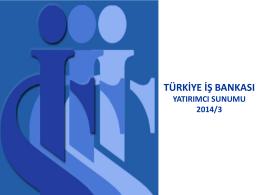 Slayt 1 - Türkiye İş Bankası