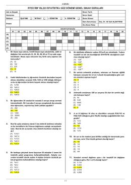 ISL223 İstatistik-I Örnek Genel Sınavı-1