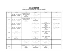 4. Sınıf Ders Programı - Dokuz Eylül Üniversitesi