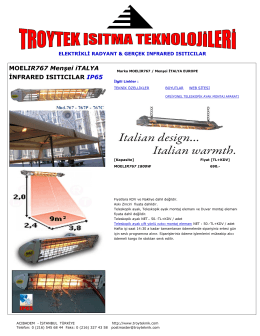 MOELIR767 Menşei iTALYA İNFRARED ISITICILAR IP65