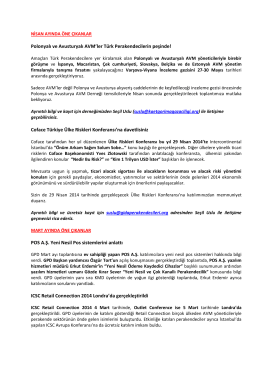 GPD 2014 Nisan Ayı Bülteni - Gıda Perakendecileri Derneği