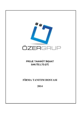 firma tanıtım dosyası 2014