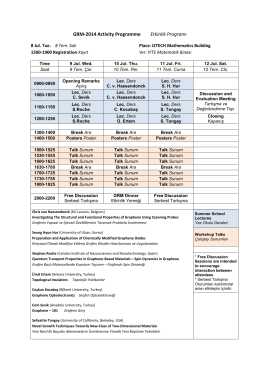 GRM-2014 Activity Programme Etkinlik Programı
