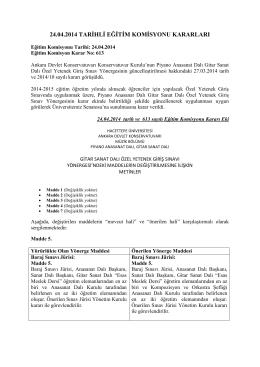 24.04.2014 tarihli eğitim komisyonu kararları