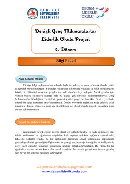 Denizli Genç Mihmandarlar Liderlik Okulu Projesi 2. Dönem